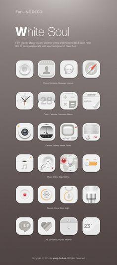 [NHN_CAMP MOBILE] White soul icon set design by Lee Yong Ha, via Behance