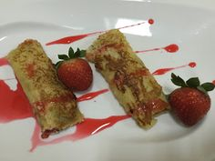 Strawberry - Nutella French toast Roll Ups Ingredients: Removed) Teaspoon French Toast Roll Ups, Nutella French Toast, Rolls, Strawberry, Breakfast, Food, Morning Coffee, Buns, Essen