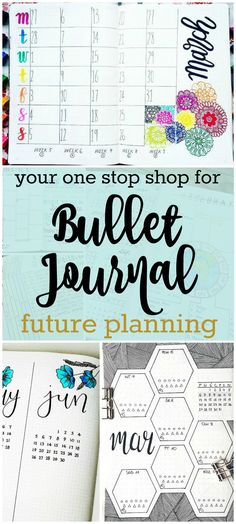 Future planning in your bullet journal has never been easier! Check out these ideas for planning your future: the alastair method, calendex, and future log.