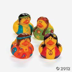 Hippie Rubber Duckies