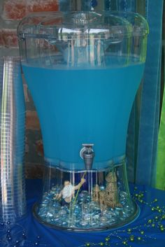 Miley Minutes: Mermaid Birthday Party. Love the scene in the dispenser!