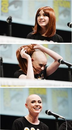 "Karen Gillan Stepped Up for ""Guardians of the Galaxy"" I loved it when I saw her do this. She did it showed that she shaved her head right when I shaved my head. It helped me see that bald is beautiful."