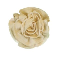 Miss Rose Sister Violet Ruffle Flower Broach Cream from Putti Fine Furnishings