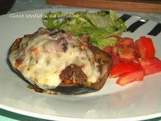 Cinco sentidos na cozinha: Beringela no forno recheada com carne picada e que...