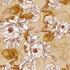 Seamless Rose Background