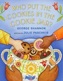 Sprout's Bookshelf: Who Put the Cookies in the Cookie Jar? by George Shannon - This book, perfect to share with the youngest of readers, brings up some great opportunities to talk about the way food comes to our table, but also how food is shared by people the world over. Because after all, who doesn't love a delicious cookie?