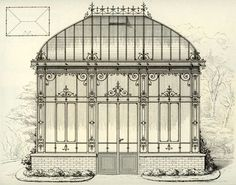 """Visit our internet site for additional details on """"greenhouse architecture drawing"""". It is actually a superb place to read more. Architecture Drawings, Architecture Plan, Architecture Details, Victorian Conservatory, Victorian Gardens, Canopy Shelter, Greenhouse Shed, Gothic Aesthetic, Gothic House"""