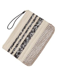 Gap | Sequin stripe zip clutch