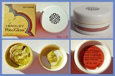 1970 Yardley Pot o'Gloss EASY COPPER Cheek Gloss with original box. Sold for $50 in 2015.