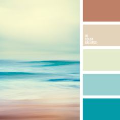 Palette in which shades of turquoise and blue overlap with soft brown tones, built on harmony. Submitted to the endless sea, kissed by the sun, the sky, pierced rays of sunshine and fine sandy beach. The classic combination of looks perfect in the interior of the office, living room or kitchen.