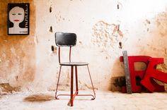 Chaise métal Bastel - chaise métal - Une chaise originale pour une touche de couleur aux accents vintage