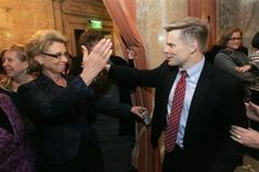 Washington Governor Christine Gregoire signs the state's marriage equality bill into law, 2/13/12 | http://glaad.org