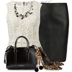 Leather, Lace and Leopard, created by tayswift-1d on Polyvore