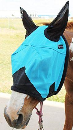 Horse Fly Mask Summer Spring Airflow Mesh UV Turquoise 73203 - http://www.petsupplyliquidators.com/horse-fly-mask-summer-spring-airflow-mesh-uv-turquoise-73203/