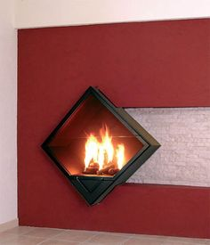 Decorating Modern Wall Fireplace Design With Glass Door carsmach