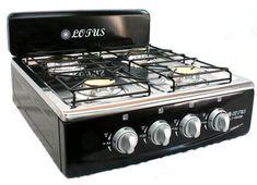 4 Burner Gas Stove Range Propane Kitchen Patio Cooktop XL Black  - - - Hmmmmm