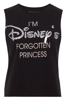 Débardeur Disney noir avec message