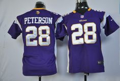 Kid s Nike NFL Minnesota Vikings  28 Adrian Peterson Purple Game Jersey The  price is  19 799f1285a