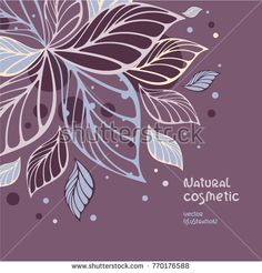 Tropical leaves ornament. Packaging and logo template for natural cosmetic, beauty products, organic and healthy food. Beautiful leaves on lilac background with place for your text.