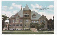 Memorial Hall Northwestern University Evanston Illinois 1910c Postcard   eBay