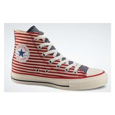 Converse All Star Flag ❤ liked on Polyvore