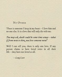 No other kind of love