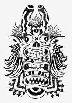 pencil - drawing - illustration - monster - totem - Giuseppe Santoro