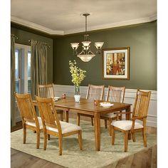 Superb 7 Piece Oak Dining Room Sets | ... South Furnishings Banebridge 7 Piece