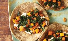 Butternut Squash, Pepitas, & Kale Tacos 9 Meatless Meals to Please Carnivores