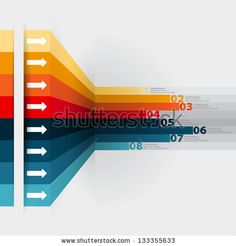 Modern Design template with numbered banners - can be used for infographics - graphic or website layout vector/Horizontal by PointaDesign, v...