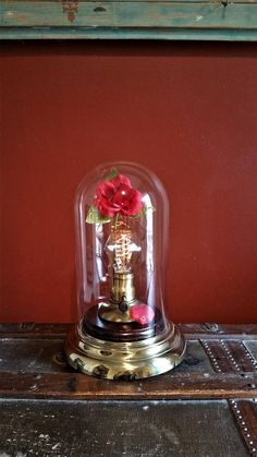 One-of-a-kind Repurposed Upcycled Clock Bell Dome Beauty & The