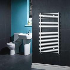 "Flat White Bar on Bar Towel Rail 45"" x 18"" $264   for 2nd bath free shipping"