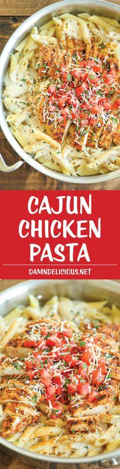 Cajun Chicken Pasta - Damn Delicious Chilis Cajun Chicken Pasta, Chicken Pasta Recipes, Cheesy Chicken, Chicken Chili, Recipe Pasta, Tuscan Chicken, Bacon Pasta, Sesame Chicken, Italian Chicken