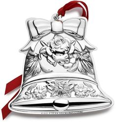 Mikasa Repousse 2016 Sterling Bell Ornament, 8th Edition