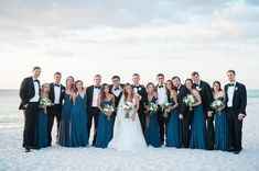 You couldn't paint a more beautiful backdrop! Amsale Bridesmaid, Green Bridesmaid Dresses, Wedding Dresses, Blue Wedding, Wedding Colors, French Blue, Bridal Style, Real Weddings, Wedding Inspiration