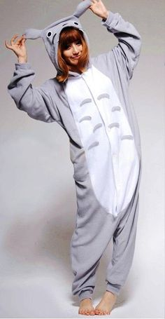 Animal Costume Totoro Adult Onesie Kigurumi Pajamas I have this one too Pijamas Onesie, Onesie Pajamas, Pyjamas, Cute Onesies, Animal Pajamas, Animal Costumes, Kawaii Fashion, Cowls, Gifts