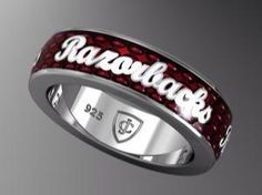 Razorback Ring want! Woo Pig Sooie, Fayetteville Arkansas, University Of Arkansas, Arkansas Razorbacks, Boyfriend Gifts, Band Rings, Bling, Jewels, Pigs