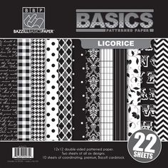 Bazzill - Basics Collection - 12 x 12 Assortment Pack - Licorice at Scrapbook.com
