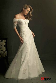 unique wedding dresses | ... Off the Shoulder Unique Wedding Dresses With Sleeve (ZA01271) Price