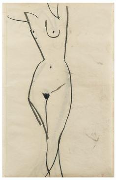 modigliani, amedeo femme nue de troi | figures | sotheby's pf1506lot83lpben