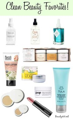If you want to incorporate more clean/natural beauty products into your regimen, start with these!