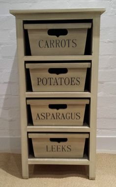 Beau Wooden Vegetable Rack Drawers Rack Kitchen Storage Baskets Country Cottage  Crate
