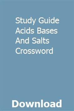 23 Best acids bases and salts images in 2018 | Acids bases, salts