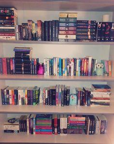 bookshelf of all the pretty, pretty books