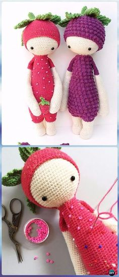 Crochet Berry Doll Free Pattern - Crochet Doll Toys Free Patterns