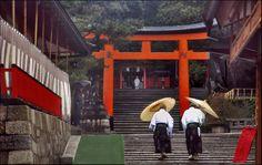 Two priests at Fushimi Imari - Kyoto, Kyoto
