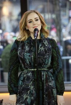 Non stop: Earlier on Wednesday, Adele appeared on the Today Show sitting down with Matt Lauer and also performing new track Million Years Ago
