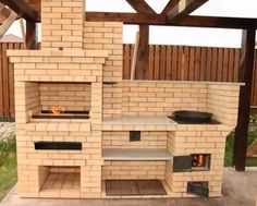 Outdoor Barbeque, Outdoor Oven, Outdoor Cooking, Brick Built Bbq, Brick Bbq, Back Patio, Backyard Patio, Barbecue Design, Outdoor Fireplace Designs