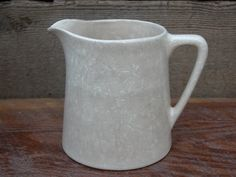 Cream Colored USA Pottery Pitcher by RedoneAndVintage on Etsy, $12.00