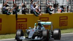 Race winner Nico Rosberg (GER) Mercedes AMG F1 W06 crosses the line at Formula One World Championship, Rd5, Spanish Grand Prix Race, Barcelona, Spain, Sunday 10 May 2015.  Sutton Motorsport Images